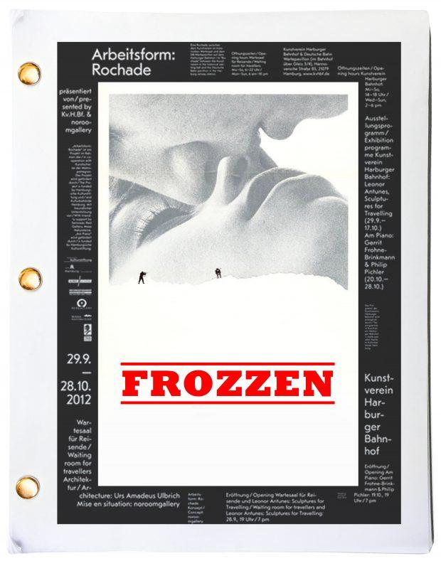 Frozzen screenplay key art book cover