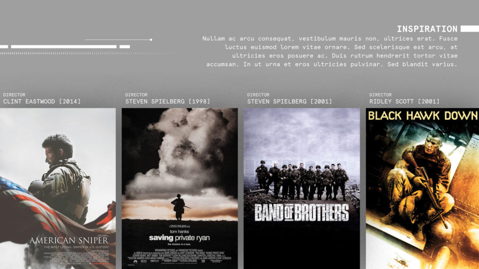 comparable military films one-sheet key art posters