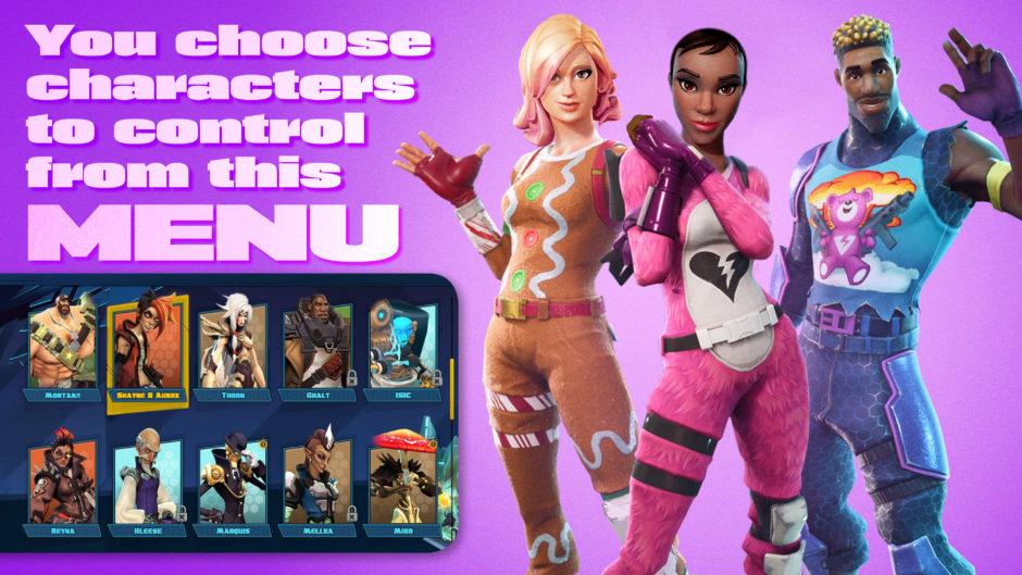 Interactive TV Game Show Character Menu