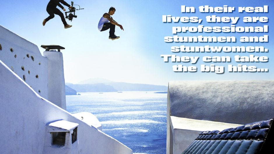 Interactive TV Game Show Stunt Man