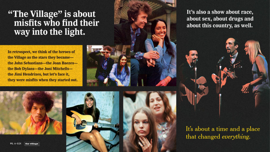 Greenwich Village Musical Acts, Bob Dylan, Joan Baez, Joni Mitchell, Jimi Hendrix, The Mamas and the Papas, Mama Cass, Michelle Phillips, Cass Elliot, Peter, Paul and Mary