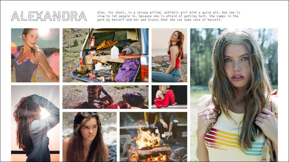 beautiful millennial women camping