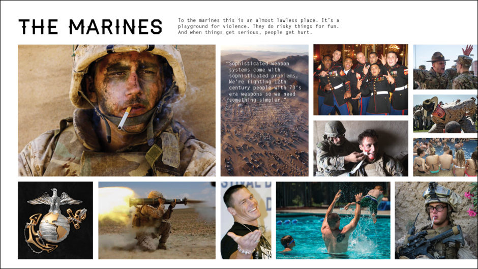 marines in combat and at home