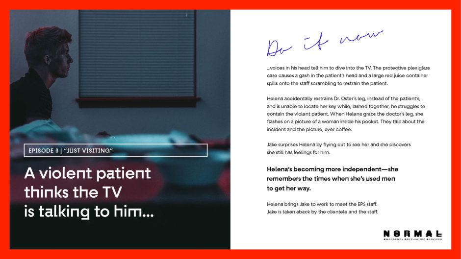 a violent patient tv series episode synopsis