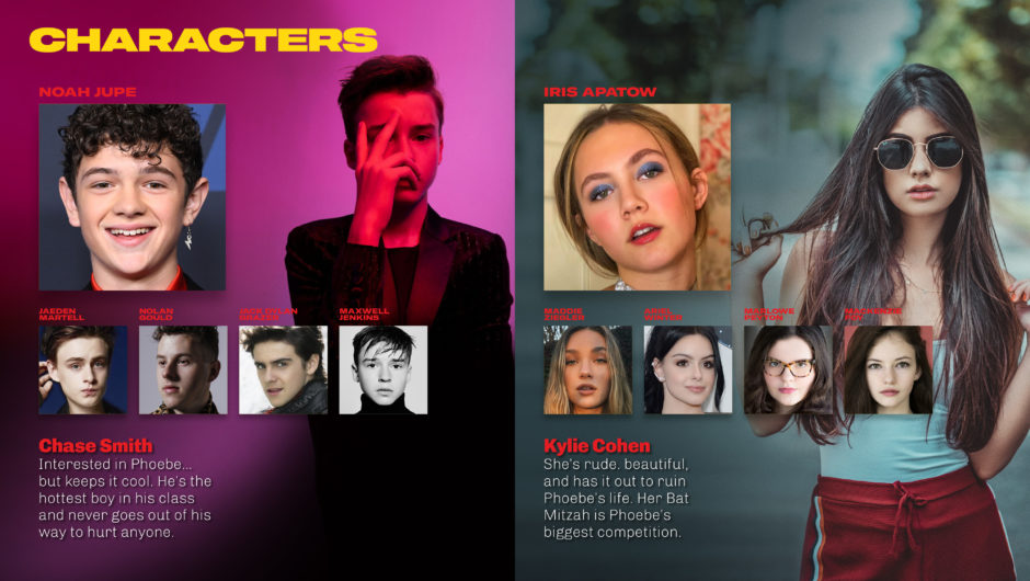 teenage actors as options for supporting characters in energetic coming of age comedy