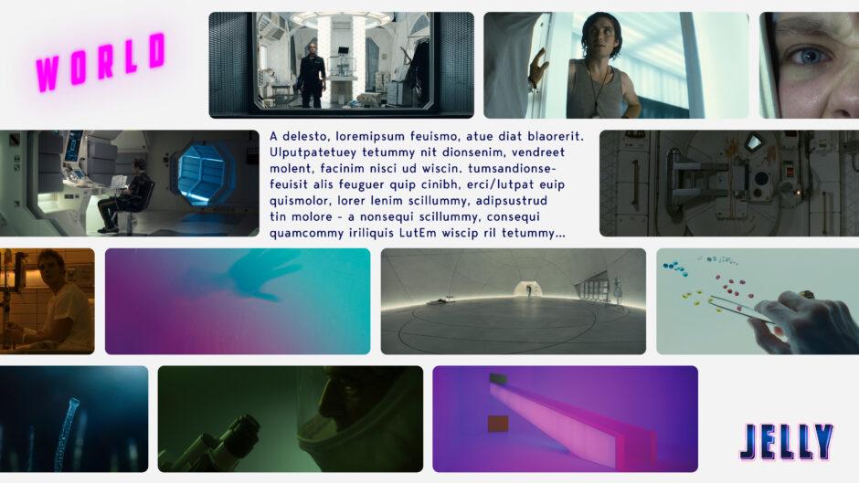 jelly sci-fi world neon light girls eye