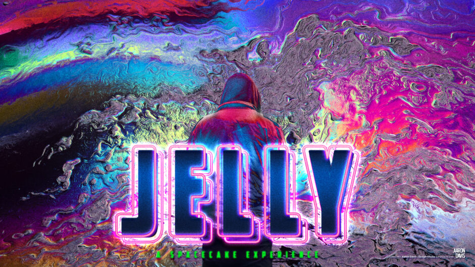jelly pitch deck back cover man with hoodie Aaron Davis key art